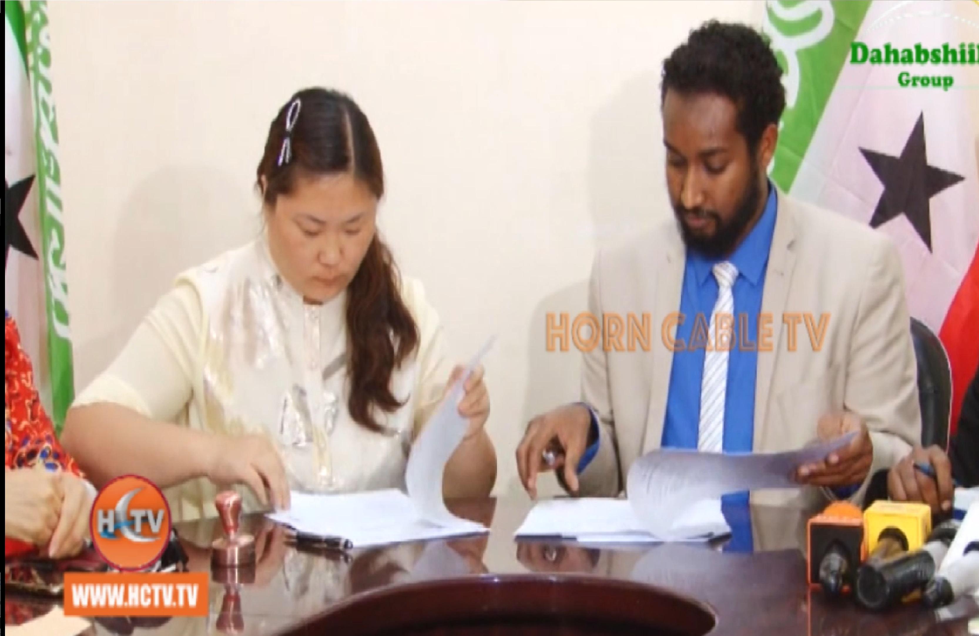 Wasaarada Maalgashiga & Bank China Ah Oo Heshiis Kala Saxeexday