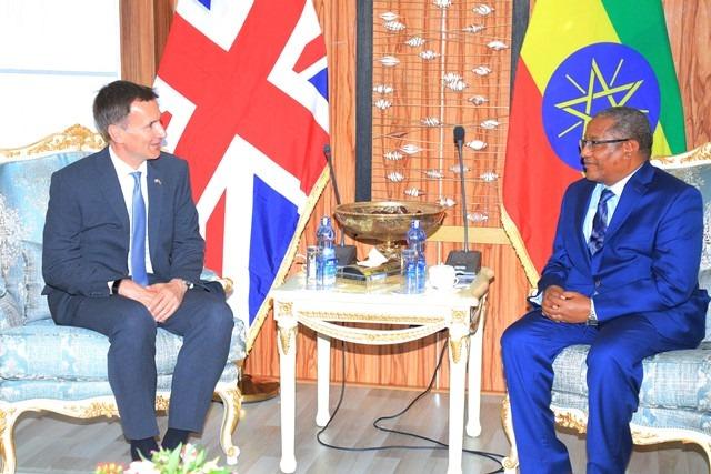 Wasiirka Arimaha Dibada Ethiopia Oo Qaabilay Dhigiisa Dalka UK