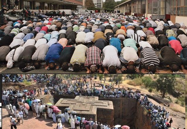 """Muslimiin Masaajid u baahan iyo Kiristaan """"Dagaal ka Xiga"""" oo Meel ku wada nool."""