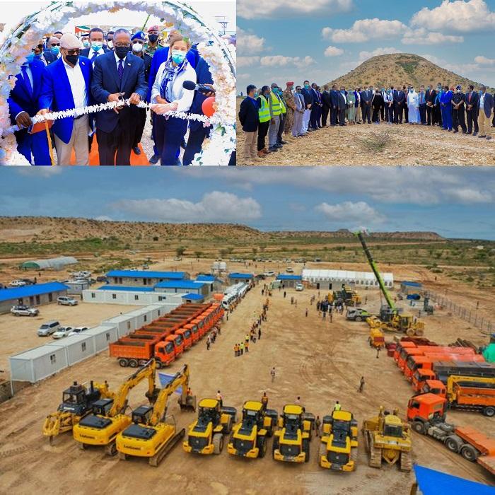 Madaxweynaha Somaliland Oo Dhagax-Dhigay Waddada Labada Boqol (Hargeysa BYPASS) Ee  Caasimadda lagaga Yaraynayo Saxmadda